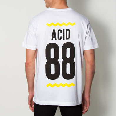 Acid 88  Back Print - Tshirt - White - Wasted Heroes