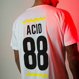 Acid 88 White T-shirt - Back Print