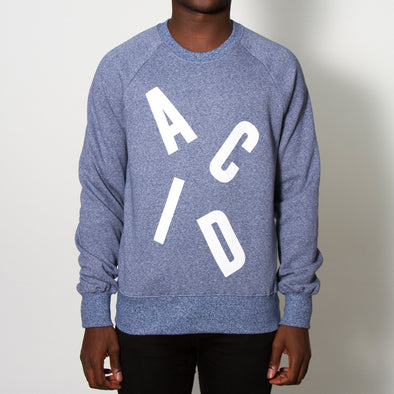 Acid Letter - Sweatshirt - Blue Twist