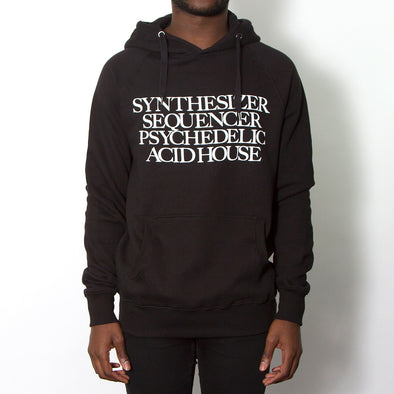 Synthesizer Acid House - Pullover Hoodie - Black - Wasted Heroes