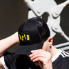 Acid Letter - Trucker Cap - Black - Wasted Heroes