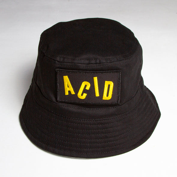 Acid Letter - Bucket Hat - Black - Wasted Heroes