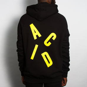 Acid Letter - Pullover Hood - Black - Wasted Heroes