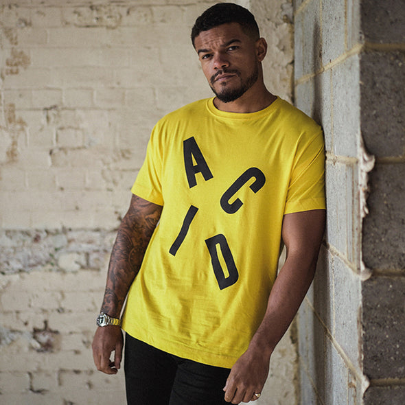 Acid Letter - Tshirt - Yellow