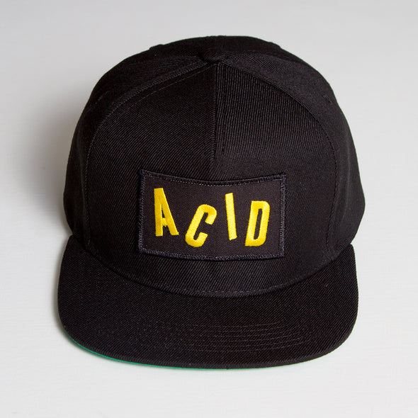 Acid Letter - Snapback - Black - Wasted Heroes