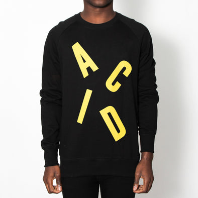 Acid Letter - Sweatshirt - Black - Wasted Heroes