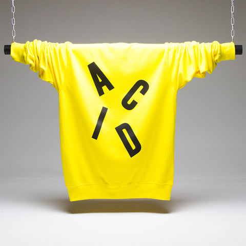 Acid Letter Sweatshirt - Yellow