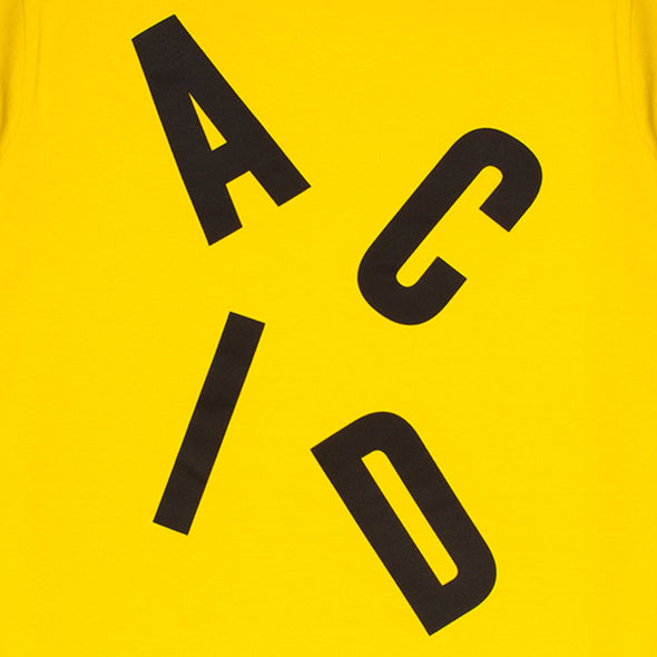Acid Letter - Tshirt - Yellow - Wasted Heroes