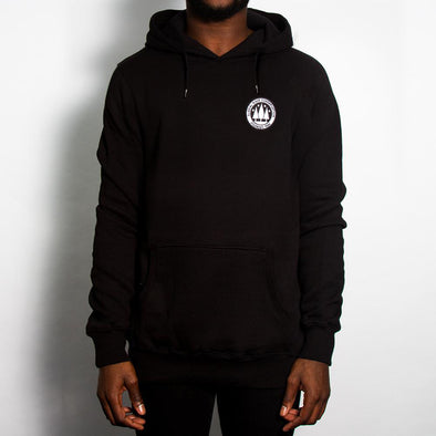 Illegal Rave Crest - Pullover Hoodie - Black - Wasted Heroes
