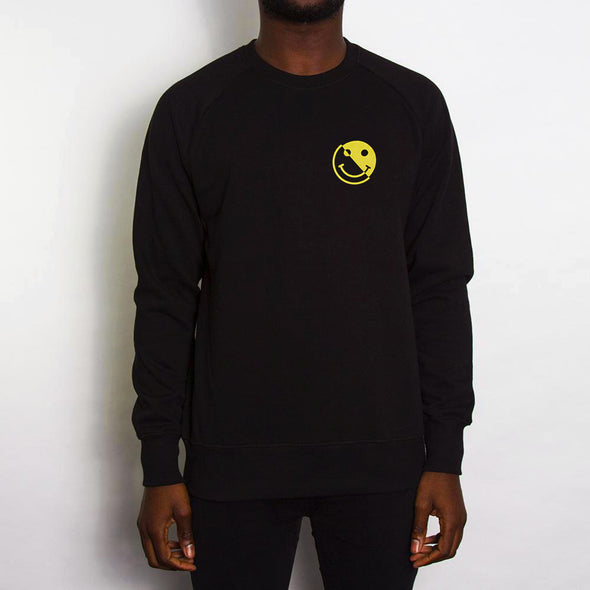 Acid Split Back Print - Sweatshirt - Black - Wasted Heroes