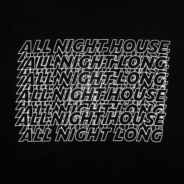 All Night House Back - Tshirt - Black - Wasted Heroes
