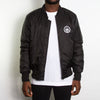 Illegal Rave - Padded Bomber Jacket - Black