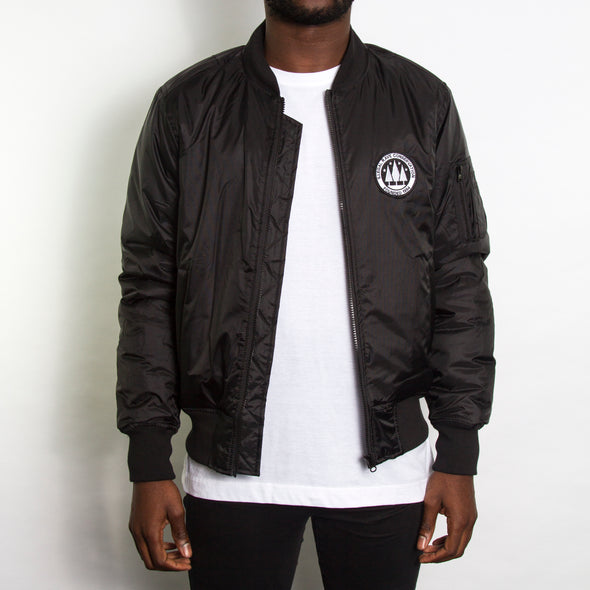 Illegal Rave - Padded Bomber Jacket - Black - Wasted Heroes