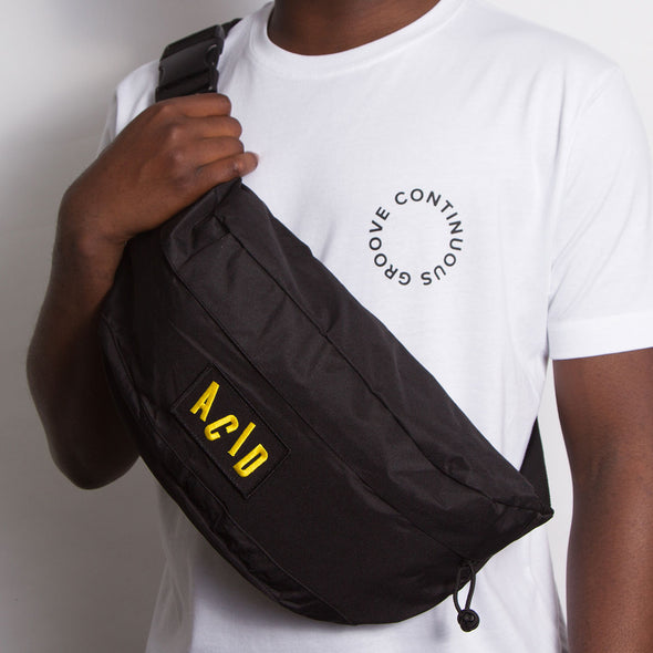 Acid Letter - Oversized Bum Bag - Black - Wasted Heroes