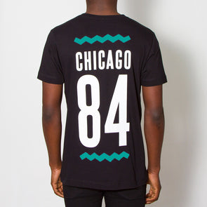 Chicago 84 Back Print - Tshirt - Black - Wasted Heroes