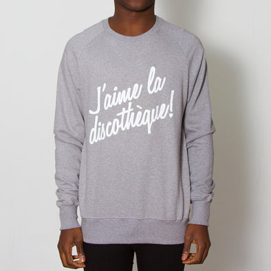 J'aime Discotheque - Sweatshirt - Grey - Wasted Heroes