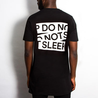 Do Not Sleep Back Print - Longline - Black - Wasted Heroes