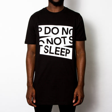 Do Not Sleep Front Print - Longline - Black