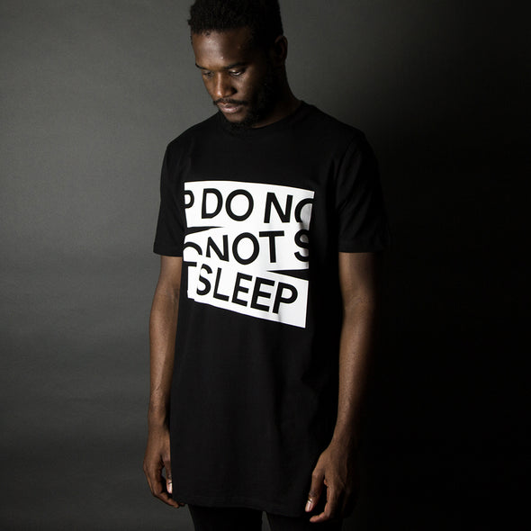 Do Not Sleep Front Print - Longline - Black - Wasted Heroes