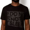Do Not Sleep Blk On Blk - Longline - Black