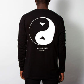 Dove Back Print - Long Sleeve - Black - Wasted Heroes