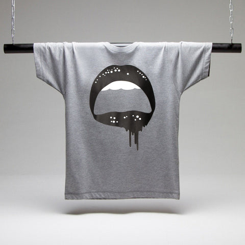 Dripping Lips T-shirt - Grey