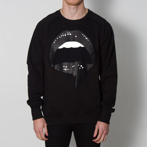 Dripping Lips - Sweatshirt - Black