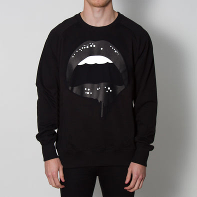 Dripping Lips - Sweatshirt - Black - Wasted Heroes