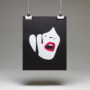 Droplet Face Screenprint - Wasted Heroes