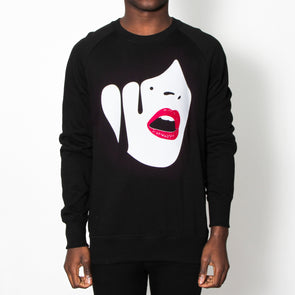 Droplet Face - Sweatshirt - Black