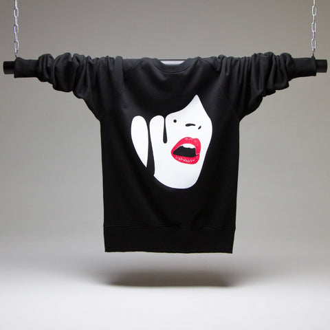 Droplet Face Sweatshirt