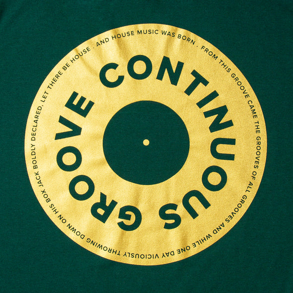 Gold Continuous Groove Back Print - Tshirt - Green - Wasted Heroes
