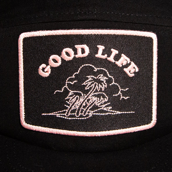 Good Life - 5 Panel Cap - Black - Wasted Heroes