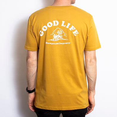 Good Life - Tshirt - Ocre - Wasted Heroes
