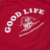 Good Life - Sweatshirt - Washed Red - Wasted Heroes