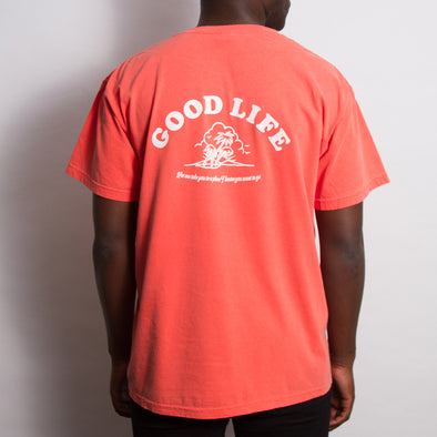 Good Life - Heavyweight Tshirt - Salmon - Wasted Heroes