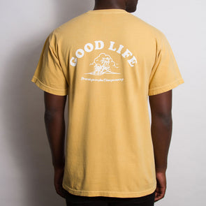 Good Life - Heavyweight Tshirt - Mustard - Wasted Heroes