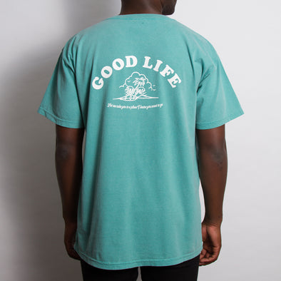 Good Life - Heavyweight Tshirt - Sea Blue