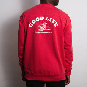 Good Life - Sweatshirt - Washed Red