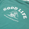 Good Life - Heavyweight Tshirt - Sea Blue - Wasted Heroes