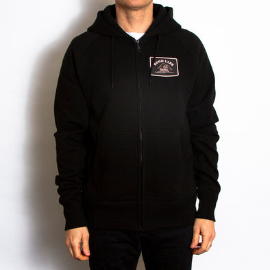 Good Life Crest - Zipped Hood - Black - Wasted Heroes