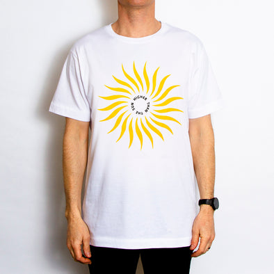 Higher Than The Sun Front Print - Tshirt - White - Wasted Heroes