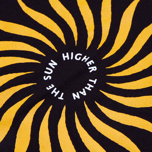 Higher Than The Sun Back Print - Tshirt - Black