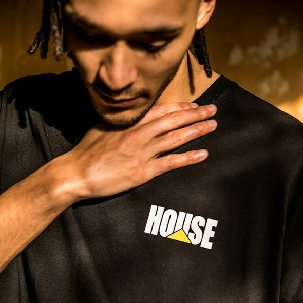House Crest - Tshirt - Black - Wasted Heroes