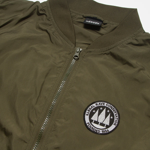 Illegal Rave - Lightweight Bomber - Green - Wasted Heroes