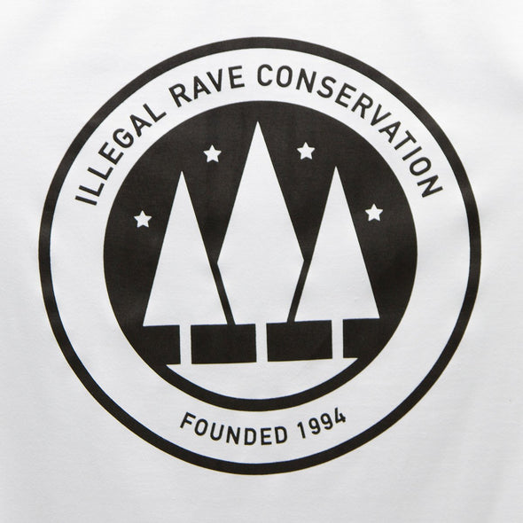 Crest Illegal Rave Conservation - Longline - White - Wasted Heroes