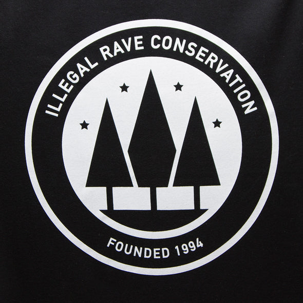 Illegal Rave Conservation - Tshirt - Black - Wasted Heroes