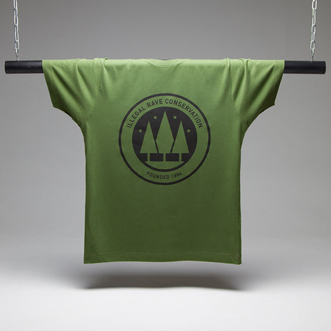 Illegal Rave Conservation T-shirt - Green