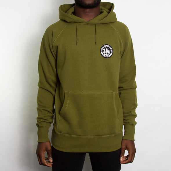 Illegal Rave Crest - Pullover Hoodie - Khaki - Wasted Heroes