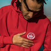 Illegal Rave Crest - Pullover Hoodie - Red - Wasted Heroes